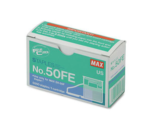 MAX Co. LTD NO-50FE Staple Cartridge for EH-50F Flat-Clinch Electric Stapler, 5,000/Box by MAX USA CORP.