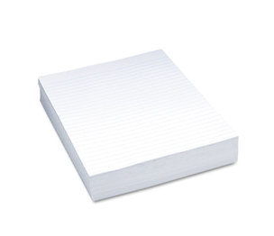 "PACON CORPORATION 2403 Composition Paper, 3/8"" Ruling, 16 lbs., 8-1/2 x 11, White, 500 Sheets/Pack by PACON CORPORATION"