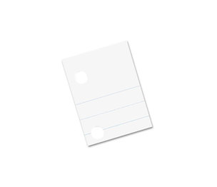 PACON CORPORATION 2441 Composition Paper, Red Margin, 5-Hole Punched, 8 x 10-1/2, White, 500 Shts/Pk by PACON CORPORATION