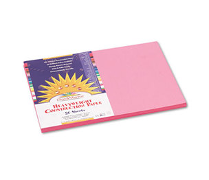 PACON CORPORATION 7007 Construction Paper, 58 lbs., 12 x 18, Pink, 50 Sheets/Pack by PACON CORPORATION