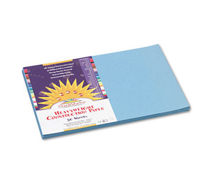 PACON CORPORATION 7607 Construction Paper, 58 lbs., 12 x 18, Sky Blue, 50 Sheets/Pack by PACON CORPORATION