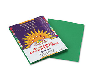PACON CORPORATION 8003 Construction Paper, 58 lbs., 9 x 12, Holiday Green, 50 Sheets/Pack by PACON CORPORATION