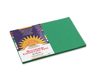 PACON CORPORATION 8007 Construction Paper, 58 lbs., 12 x 18, Holiday Green, 50 Sheets/Pack by PACON CORPORATION