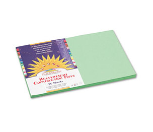 PACON CORPORATION 8107 Construction Paper, 58 lbs., 12 x 18, Light Green, 50 Sheets/Pack by PACON CORPORATION