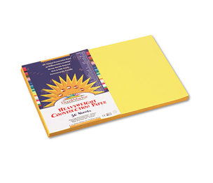 PACON CORPORATION 8407 Construction Paper, 58 lbs., 12 x 18, Yellow, 50 Sheets/Pack by PACON CORPORATION