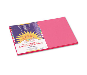 PACON CORPORATION 9107 Construction Paper, 58 lbs., 12 x 18, Hot Pink, 50 Sheets/Pack by PACON CORPORATION