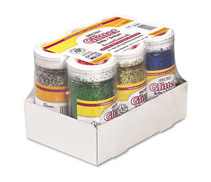 PACON CORPORATION 91370 Spectra Glitter, .04 Hexagon Crystals, Assorted, 4 oz Shaker-Top Jar, 6/Pack by PACON CORPORATION