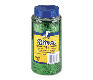 PACON CORPORATION 91760 Spectra Glitter, .04 Hexagon Crystals, Green, 16 oz Shaker-Top Jar by PACON CORPORATION