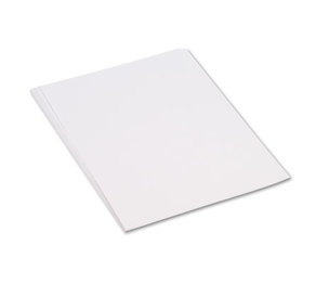 PACON CORPORATION 9217 Construction Paper, 58 lbs., 18 x 24, White, 50 Sheets/Pack by PACON CORPORATION