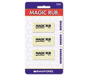 Sanford, L.P. 70503 MAGIC RUB Art Eraser, Vinyl, 3/Pack by SANFORD