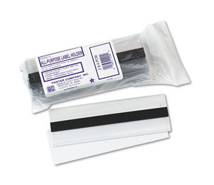 Panter Company, Inc PCM-2 Clear Magnetic Label Holders, Side Load, 6 x 2, Clear, 10/Pack by PANTER COMPANY