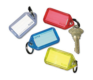 PM Company, LLC 4993 Extra Color-Coded Key Tags for Key Tag Rack, 1 1/8 x 2 1/4, Assorted, 4/Pack by PM COMPANY