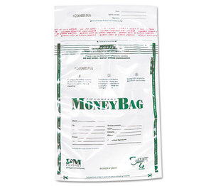 PM Company, LLC 58019 Plastic Money Bags, Tamper Evident, 9 x 12, Clear, 50/Pack by PM COMPANY