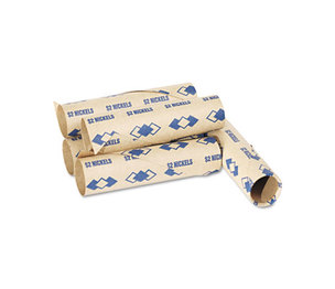 PM Company, LLC 65070 Preformed Tubular Coin Wrappers, Nickels, $2, 1000 Wrappers/Carton by PM COMPANY