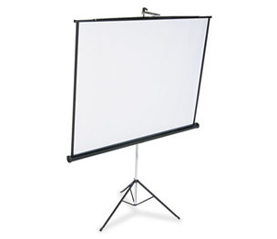 Quartet 570S Portable Tripod Projection Screen, 70 x 70, White Matte, Black Steel Case by QUARTET MFG.