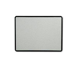 Quartet 7694G Contour Fabric Bulletin Board, 48 x 36, Gray Surface, Black Plastic Frame by QUARTET MFG.