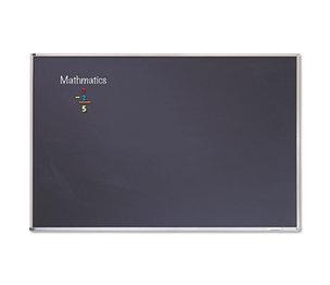 Quartet PCA304B Porcelain Black Chalkboard w/Aluminum Frame, 48 x 36, Silver by QUARTET MFG.