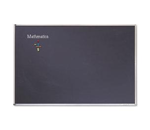Quartet PCA408B Porcelain Black Chalkboard w/Aluminum Frame, 48 x 96, Silver by QUARTET MFG.