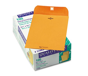 QUALITY PARK PRODUCTS 37863 Clasp Envelope, 6 1/2 x 9 1/2, 28lb, Brown Kraft, 100/Box by QUALITY PARK PRODUCTS
