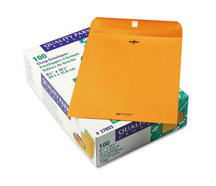 QUALITY PARK PRODUCTS 37893 Clasp Envelope, 9 1/2 x 12 1/2, 28lb, Brown Kraft, 100/Box by QUALITY PARK PRODUCTS