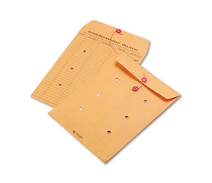 QUALITY PARK PRODUCTS 63462 Brown Kraft Kraft String & Button Interoffice Envelope, 9 x 12, 100/Carton by QUALITY PARK PRODUCTS