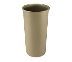 RUBBERMAID COMMERCIAL PROD. FG354600BEIG Untouchable Waste Container, Round, Plastic, 22gal, Beige by RUBBERMAID COMMERCIAL PROD.