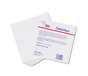 READ/RIGHT RR1250 DataWipe Office Equipment Cleaner, Cloth, 6 x 6, White, 75/Pack by READ/RIGHT