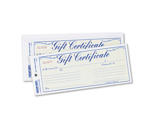 REDIFORM OFFICE PRODUCTS 98002 Gift Certificates w/Envelopes, 8-1/2w x 3-2/3h, Blue/Gold, 25/Pack by REDIFORM OFFICE PRODUCTS