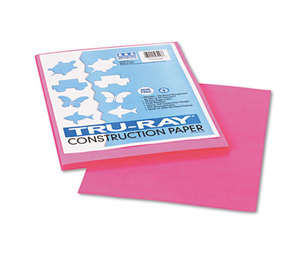 PACON CORPORATION 103013 Tru-Ray Construction Paper, 76 lbs., 9 x 12, Shocking Pink, 50 Sheets/Pack by PACON CORPORATION
