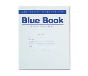 Roaring Spring Paper Products 77512 Exam Blue Book, Legal Rule, 8-1/2 x 7, White, 8 Sheets/16 Pages by ROARING SPRING PAPER PRODUCTS