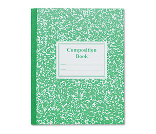 Roaring Spring Paper Products 77920 Grade School Ruled Composition Book, 9-3/4 x 7-3/4, Green Cover, 50 Pages by ROARING SPRING PAPER PRODUCTS