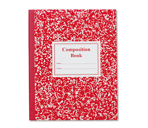 Roaring Spring Paper Products 77922 Grade School Ruled Composition Book, 9-3/4 x 7-3/4, Red Cover, 50 Pages by ROARING SPRING PAPER PRODUCTS