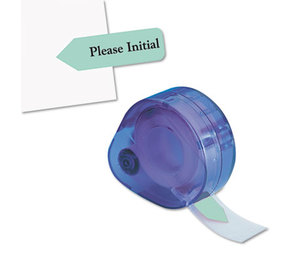 """Redi-Tag Corporation 81114 Arrow Message Page Flags in Dispenser, """"Please Initial"""", Mint, 120/Dispenser by REDI-TAG CORPORATION"""