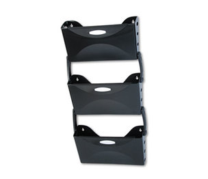 RUBBERMAID COMMERCIAL PROD. 18563 Ultra Hot File Three Pocket Wall File Set, Legal, Black by RUBBERMAID