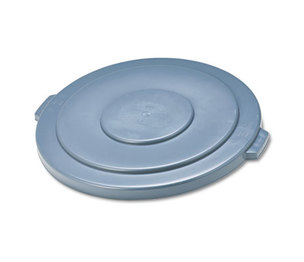"RUBBERMAID COMMERCIAL PROD. 265400 Round Flat Top Lid, for 55-Gallon Round Brute Containers, 26 3/4"", dia., Gray by RUBBERMAID COMMERCIAL PROD."