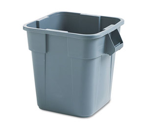 RUBBERMAID COMMERCIAL PROD. 352600 GRAY Brute Container, Square, Polyethylene, 28gal, Gray by RUBBERMAID COMMERCIAL PROD.