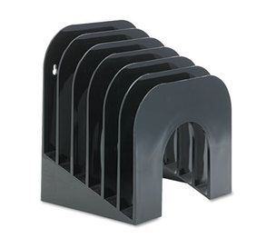 RUBBERMAID COMMERCIAL PROD. 96601ROS Six-Tier Jumbo Incline Sorter, Plastic, 9 3/8 x 10 1/2 x 7 3/8, Black by RUBBERMAID