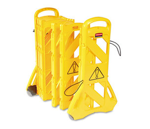 "RUBBERMAID COMMERCIAL PROD. RCP 9S11 YEL Portable Mobile Safety Barrier, Plastic, 13ft x 40"", Yellow by RUBBERMAID COMMERCIAL PROD."