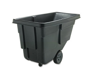 Tilt Truck, Rectangular, Plastic w/Steel Frame, 300lb Cap, Black by RUBBERMAID COMMERCIAL PROD.
