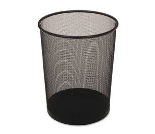 RUBBERMAID COMMERCIAL PROD. WMB20BK Steel Mesh Wastebasket, Round, 5gal, Black by RUBBERMAID COMMERCIAL PROD.