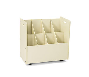 Safco Products 3045 Laminate Mobile Roll Files, Eight Compartments, 30-1/8 x 15-3/4 x 29-1/4, Putty by SAFCO PRODUCTS