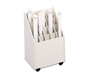 Safco Products 3082 Laminate Mobile Roll Files, 20 Compartments, 15-1/4w x 13-1/4d x 23-1/4h, Putty by SAFCO PRODUCTS