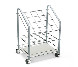 Safco Products 3091 Wire Roll/File, 20 Compartments, 18w x 12-3/4d x 24-1/2h, Gray by SAFCO PRODUCTS