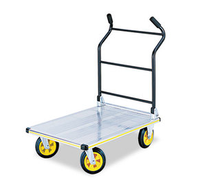 Safco Products 4053NC Stow-Away Platform Truck, 1000 lb Capacity, 24 x 39 x 40, Aluminum/Black by SAFCO PRODUCTS