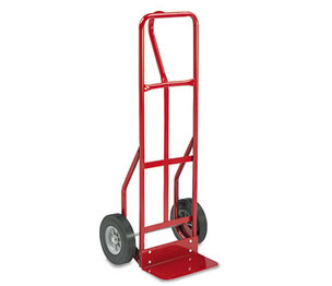 Safco Products 4084R Two-Wheel Steel Hand Truck, 500lb Capacity, 18w x 47h, Red by SAFCO PRODUCTS