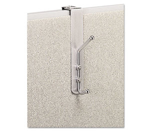 Safco Products 4167 Over-The-Panel Double-Garment Hook, Satin Aluminum/Chrome by SAFCO PRODUCTS