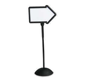 Safco Products 4173BL Double-Sided Arrow Sign, Dry Erase Magnetic Steel, 25 1/2 x 17 3/4, Black Frame by SAFCO PRODUCTS