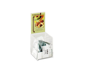 Safco Products 4235CL Small Acrylic Collection Box, 5 1/2 x 5 1/2 x 13, Clear by SAFCO PRODUCTS