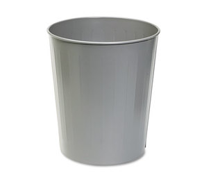 Safco Products 9604CH Round Wastebasket, Steel, 23.5qt, Charcoal by SAFCO PRODUCTS