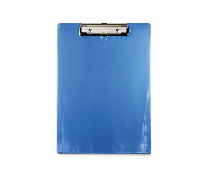 "Saunders Mfg. Co. Inc 00439 Plastic Clipboard, 1/2"" Capacity, Holds 8 1/2w x 12h, Ice Blue by SAUNDERS MFG. CO., INC."